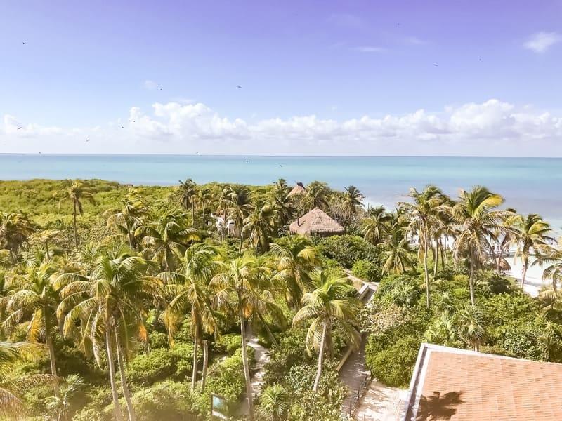 Panorama dalla Torretta di Isla Contoy