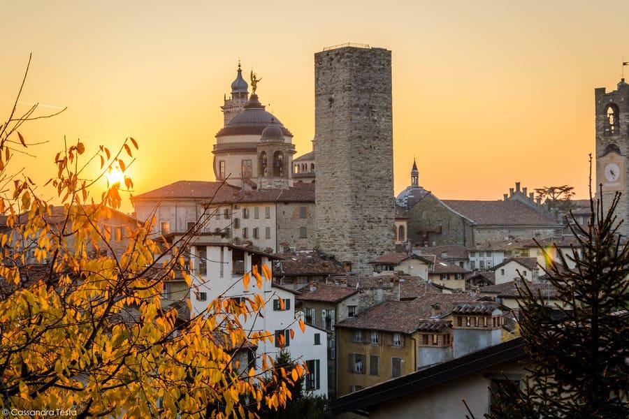 Tramonto dalla Rocca di Bergamo