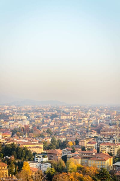 Vista dalla terrazza della funicolare, Bergamo