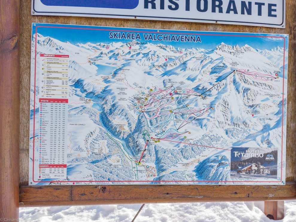 Mappa piste da sci Madesimo
