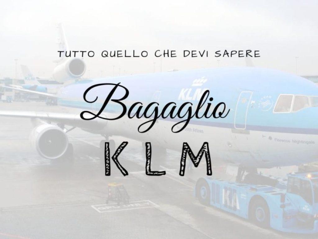 Copertina dell'articolo dedicato al bagaglio della compagnia aerea KLM