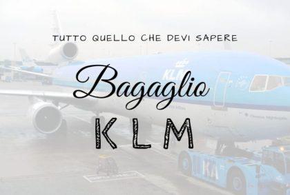 Bagaglio KLM: tutto quello che devi sapere