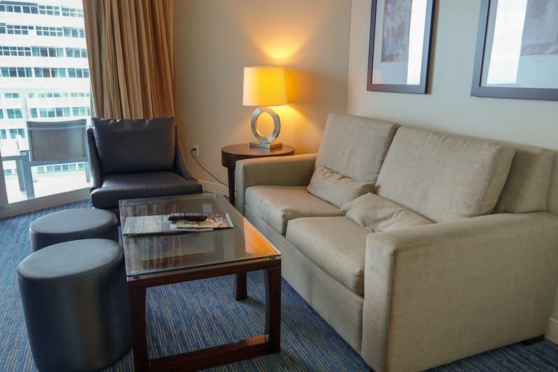 Soggiorno Junior Suite Hilton Beach Resort Fort Lauderdale