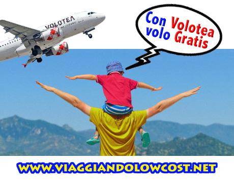 Volotea voli gratis per i minori di 14 anni