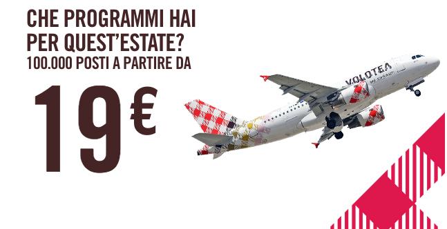 100.000 posti a partire da 19€ Volotea