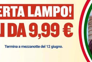Offerta Ryanair per viaggiare in Italia Luglio e Agosto