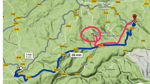 mappa itinerario lavanda plateau claparedes