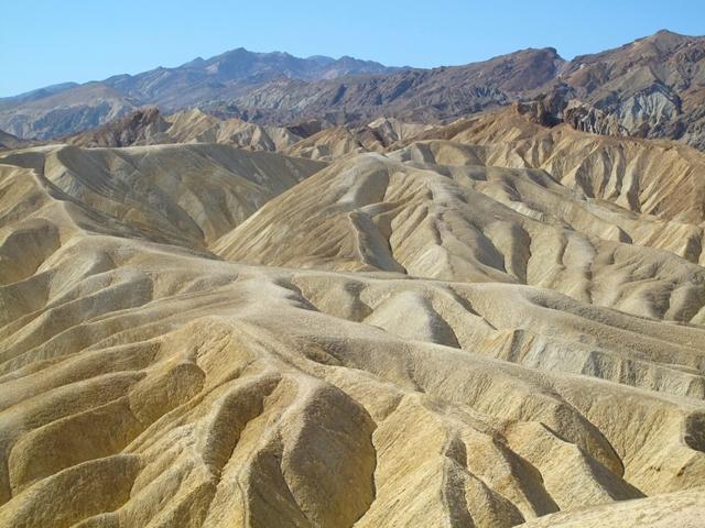 Viaggio in moto negli USA - California - Death Valley National Park - Zabriskie Point