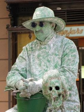 Spagna - Barcelona - Las Ramblas - Artisti di strada