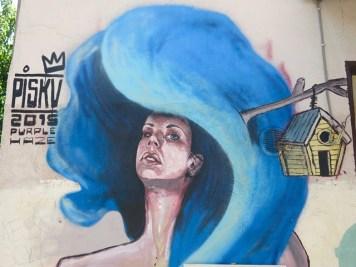 Arte Urbana (Street Art) - Pigneto: Piskv - Purple Haze