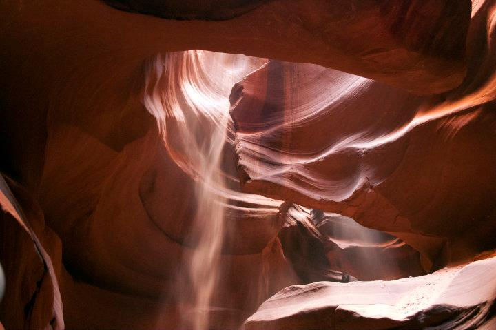 upper antelope canyon polvere
