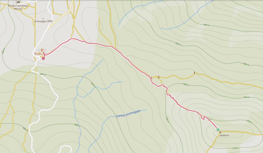 Dal Rifugio Nicola al Monte Sodadura