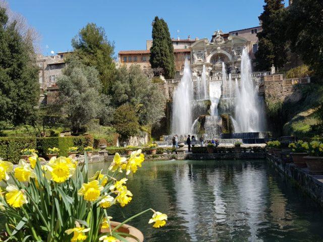 Villa d'Este a Tivoli, Fontana di Nettuno vista dalle peschiere