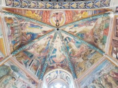Affreschi di Benozzo Gozzoli nella cappella maggiore, volta