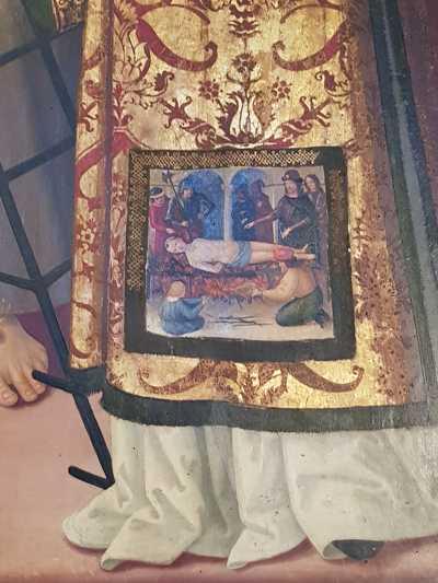 Pinturicchio ed Eusebio da San Giorgio, Madonna in trono e santi - dettaglio