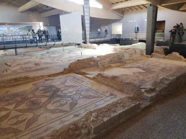 Villa dei Mosaici di Spello, vista del museo
