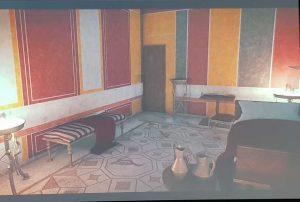 Villa dei mosaici di Spello, ricostruzione della sala degli uccelli