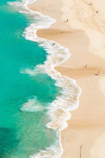 ocean & sand in bondi beach