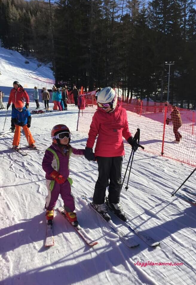 Vacanza sulla neve con bambini a Madesimo