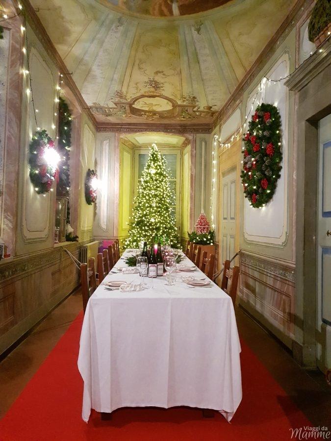 La sala da pranzo di Babbo Natale a Palazzo Ginami, Gromo