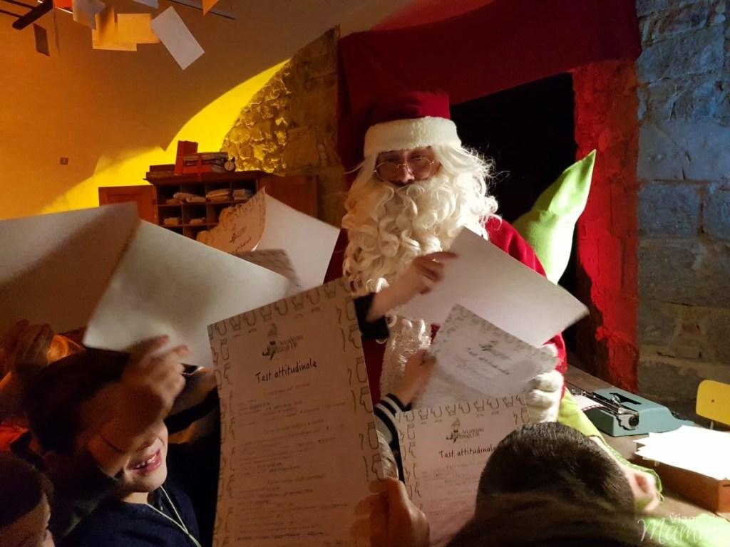 Consegna del test attitudinale a Babbo Natale
