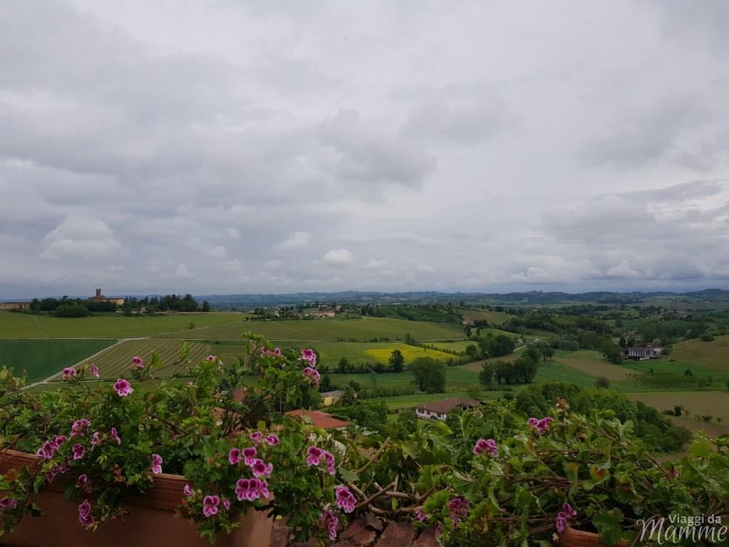Visitare il Monferrato: cosa vedere a Casale e dintorni - panorama sullo sfondo il Castello di Uviglie