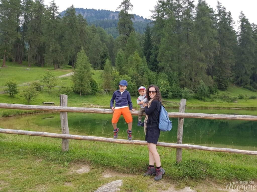 Marinzen: la piccola Alpe ideale per bambini sopra Castelrotto -laghetto artificiale-