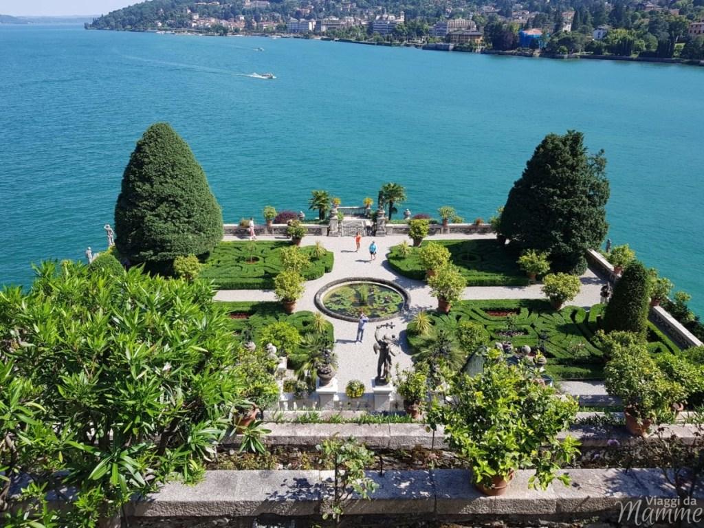 Lago Maggiore cosa vedere con bambini: le Isole Borromee - vista sul Giardino d'Amore