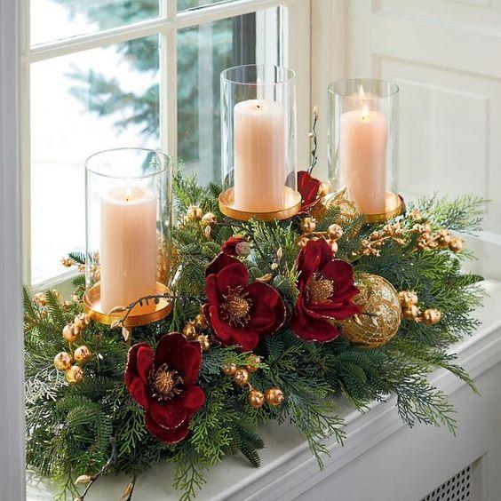 casa addobbata per Natale