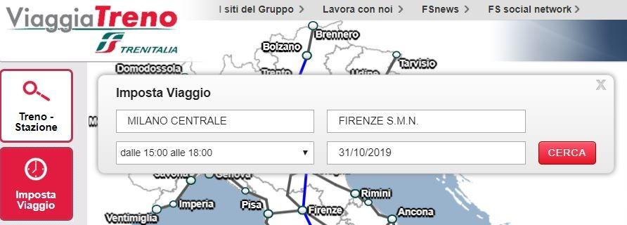 ViaggiaTreno: come funziona il servizio di Trenitalia - ipotesi di Imposta Viaggio