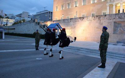 Il cambio della guardia di Atene a Piazza Syntagma
