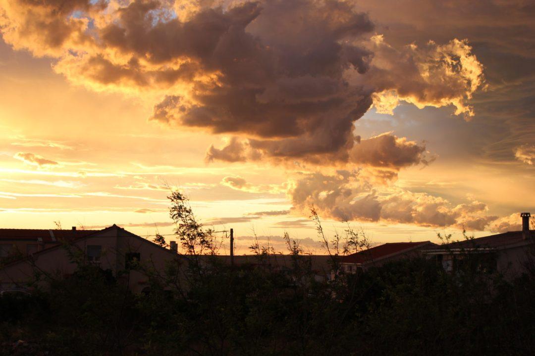 Cielo minaccioso di Razanac - Croazia