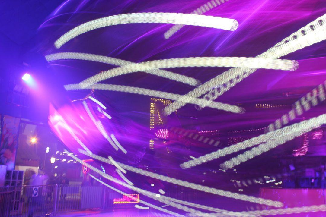 Giochi di luce al Prater di Vienna