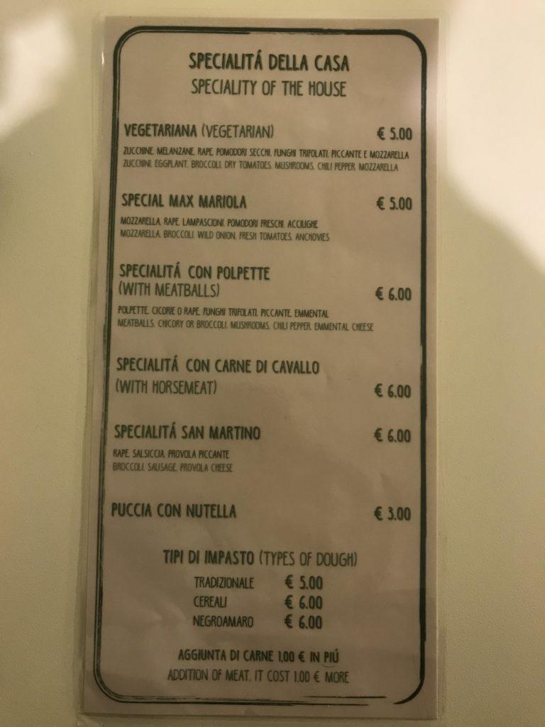 L'angolino di via Matteotti - Menù e prezzi