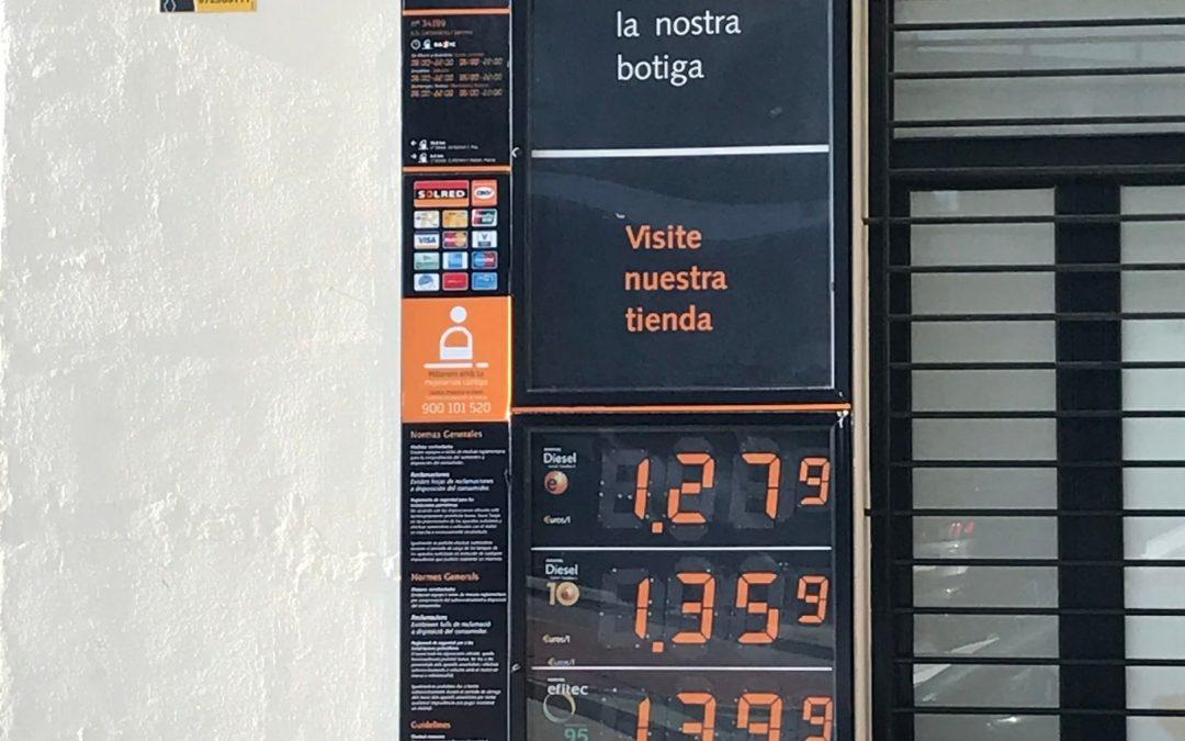 Il prezzo della benzina in Spagna