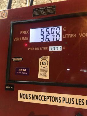 Il prezzo della benzina a Montecarlo – estate 2019