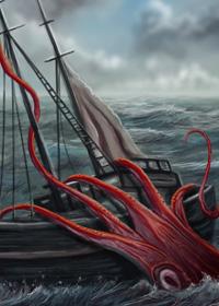 Attacco del calamaro gigante