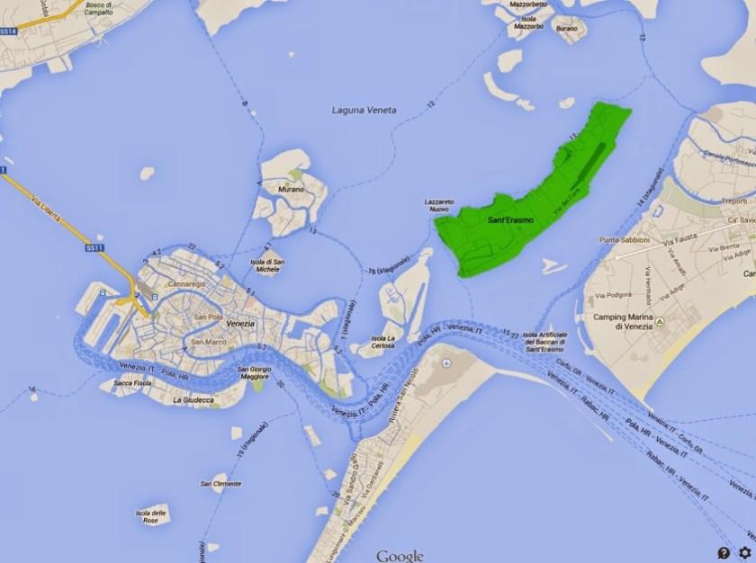 Ecco dov è l'isola di sant'erasmo