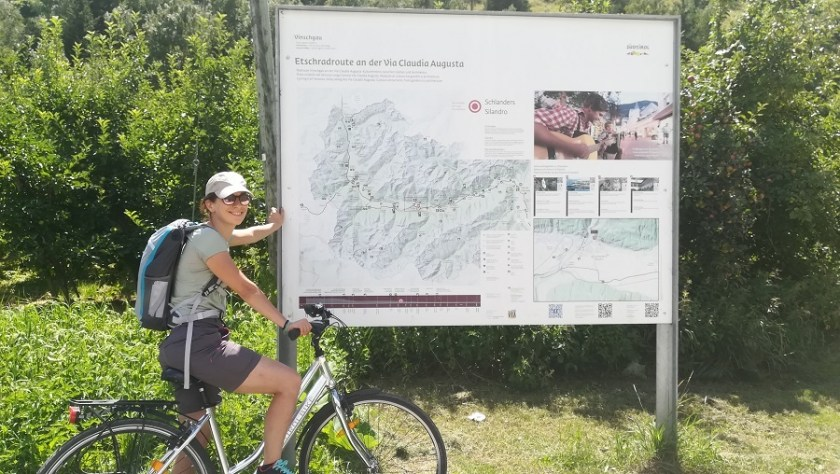 cartello informativo della Via Claudia Augusta