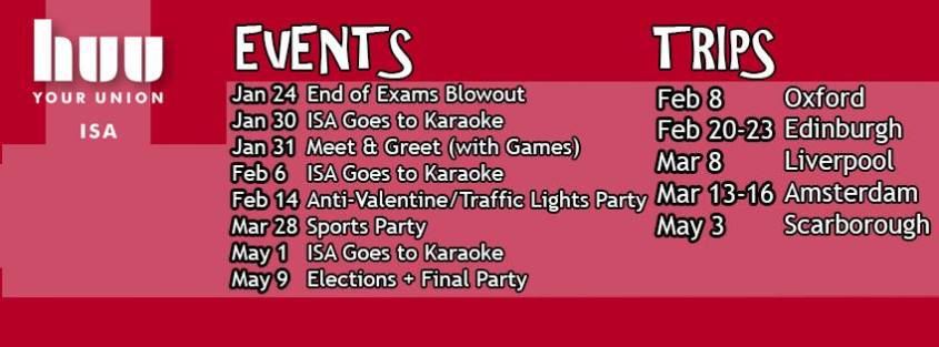 ISA Events and Trips