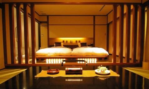 tatami in una stanza del ryokan