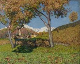 Carlo Fornara, I due noci, 1920, olio su tela, cm 44 x 56, Museo del Paesaggio