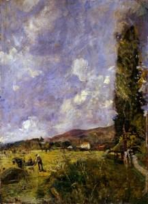 Emilio Gola, Paesaggio brianzolo, 1915, olio su cartone, cm 93 x 69, Fondazione Cariplo