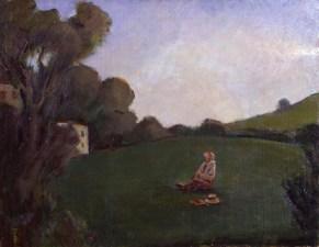 Aldo Carpi, Guardando in alto, 1925, olio su tela, cm 55,3 x 70, Fondazione Cariplo