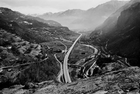 Dalla serie 1991 Valle d'Aosta, 30x40 con passepartout 50x50