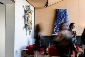 Three ceramic sculptures by Lucio Fontana. Torre Restaurant. Fondazione Prada, Milano