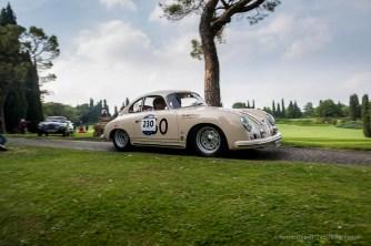 "Walter Röhrl (D) and Christian Geistdörfer (D) – Porsche 356 A 1500 GS Carrera (1956). Parco Giardino Sigurtà, Valeggio-sul-Mincio, maggio 2018. Nikon D810, 24 mm (24 mm ƒ/1.4) 1/100"" ƒ/1.4 ISO 64"