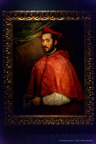 Tiziano Vecelio, Ritratto del cardinale Alessandro Farnese (1545)