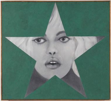 Peter Phillips, Star card table 1962. Olio su tela 80 x 80 cm. © 2018 Prolitteris, Zurich