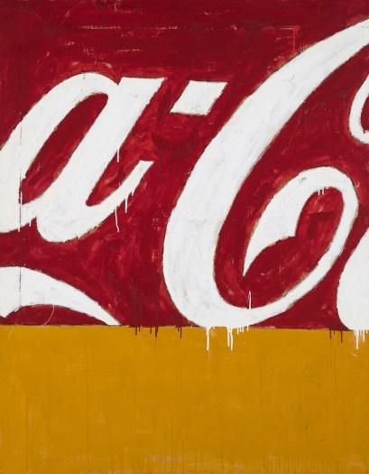 Mario Schifano, Particolare di propaganda 1962. Smalto su carta su tela 179 x 133 cm. © 2018 Prolitteris, Zurich